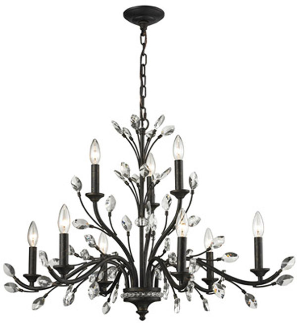 Hall Lighting & Design - Chandeliers - Crystal, Evolve 4 light