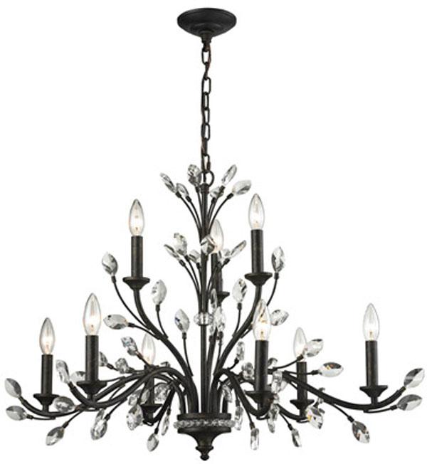 Hall Lighting & Design - Chandeliers - Crystal, Evolve 4 light