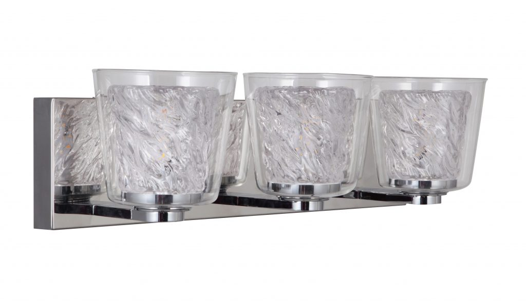 LED 3 Light Vanity - Chrome/Glass