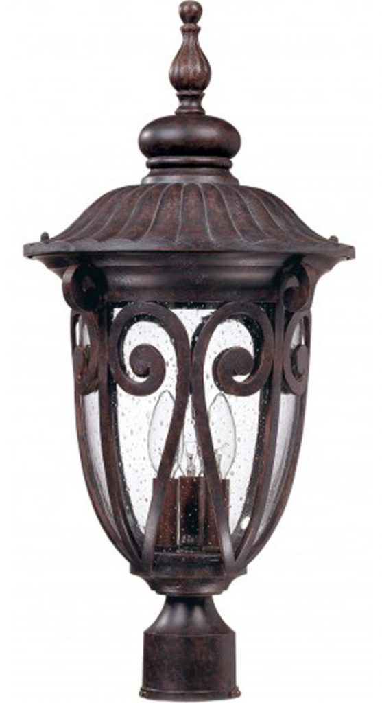 GHall Lighting & Design - Exterior Lighting - post lantern, 3 light