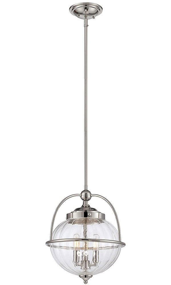 Hall Lighting & Design - Pendants - Banbury, 3 light, polished nickel