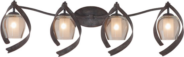 Hall Lighting & Design - Vanity Lights - Solana, 4 light, oxidized copper