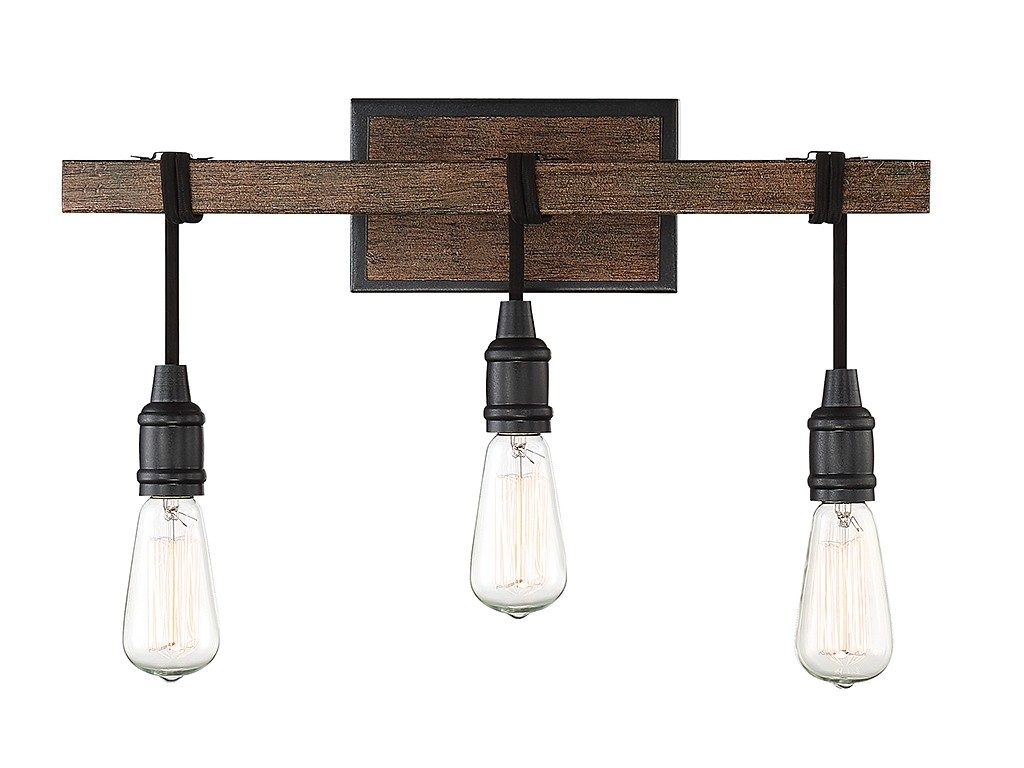 Industrial 3 light vanity