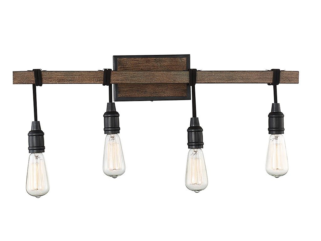 Industrial 4 light vanity