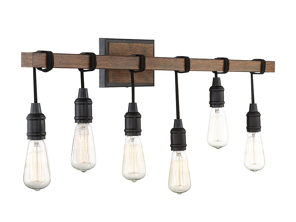 Industrial 6 light vanity