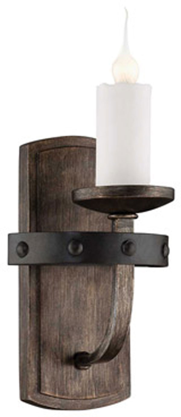 Hall Lighting & Design - Sconces - Alsace, 1 light, reclaimed wood, industrial, loft