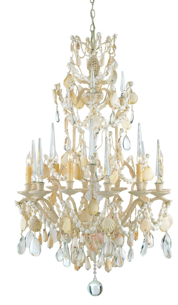 Hall Lighting & Design - Chandeliers - Buttermere, Sea Shell, Tropical
