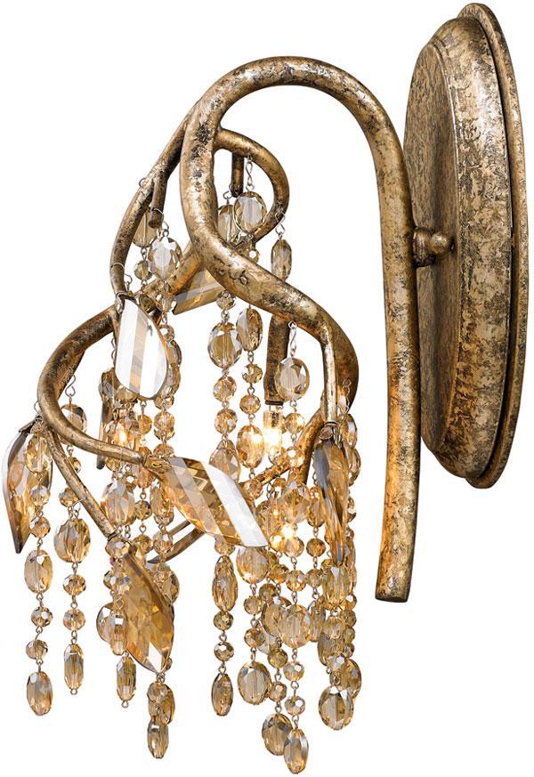 Hall Lighting & Design - Sconces - Autumn Twilight, mystic gold, crystal, amber, 1 light