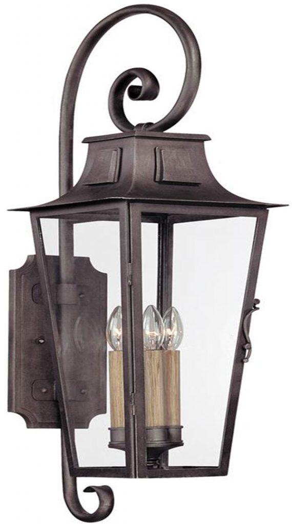 Hall Lighting & Design - Exterior Lighting - French Quarter, 4 light, sconce, aged pewter