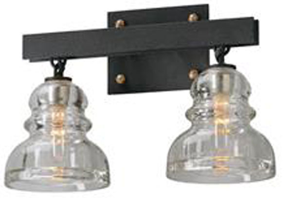 Hall Lighting & Design - Vanity Lighting - Menlo Park, 2 light, insulator glass