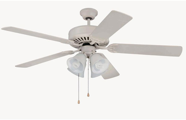 "Hall Lighting & Design - Interior Ceiling Fans - 52"" white"
