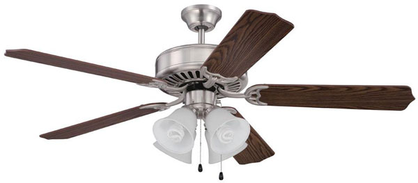 Hall lighting design center interior fans showroom hall lighting design interior ceiling fans 52 brushed nickel aloadofball Image collections