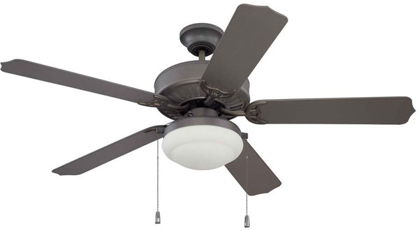 "Hall Lighting & Design - Exterior Fan - 52"" Espresso finish"