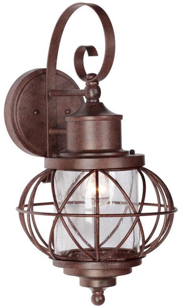 Hall Lighting & Design - Exterior Lighting - Chapparall, rust, 3 light, texas star