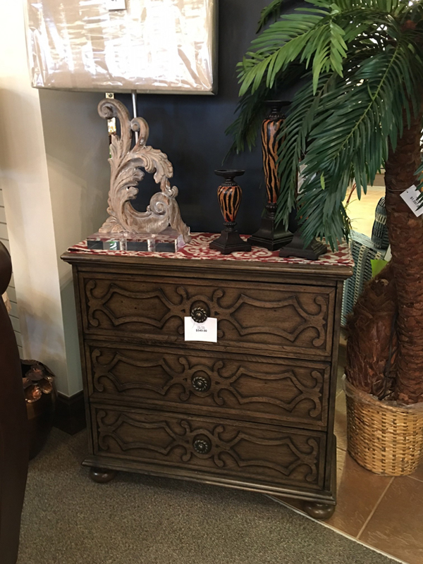 ornate wooden cabinet