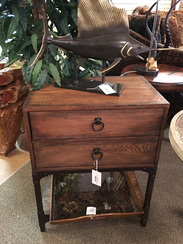 wood dresser side table