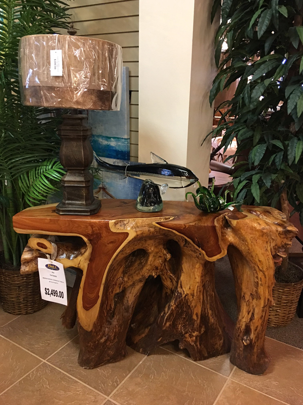 artistic wooden side table
