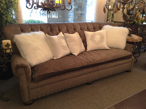 tufted, chenille, sofa
