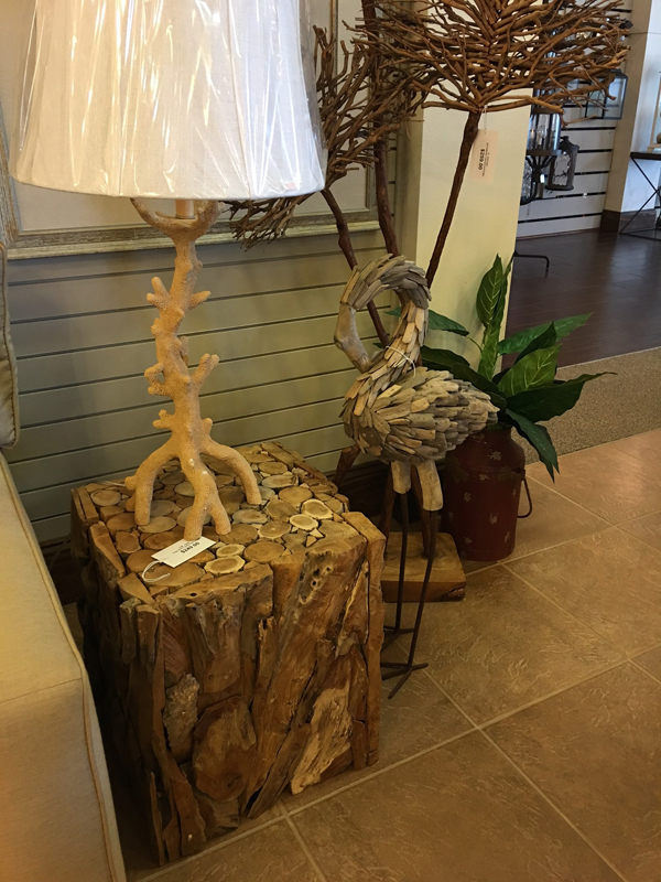 artistic wood side table