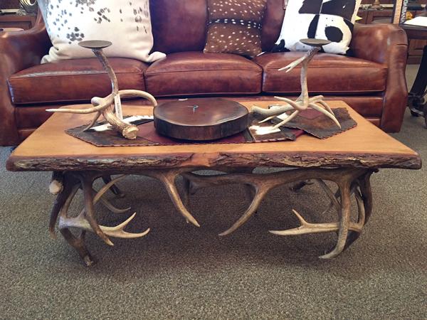 Horn art sofa table