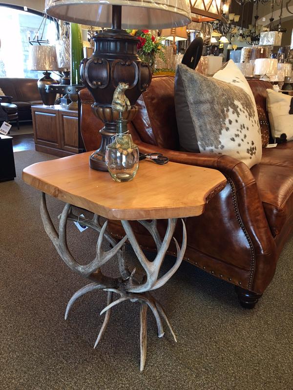 Horn art side table