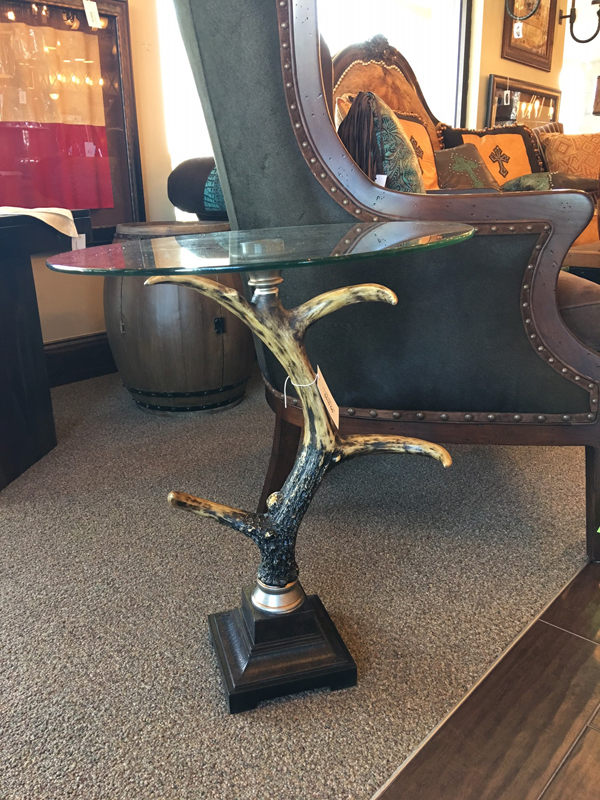 Horn art side table
