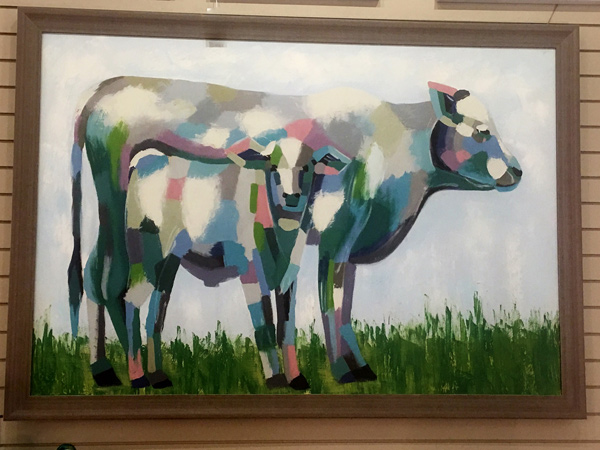 Mother-Cow-and-Calf-Impressionist-Painting
