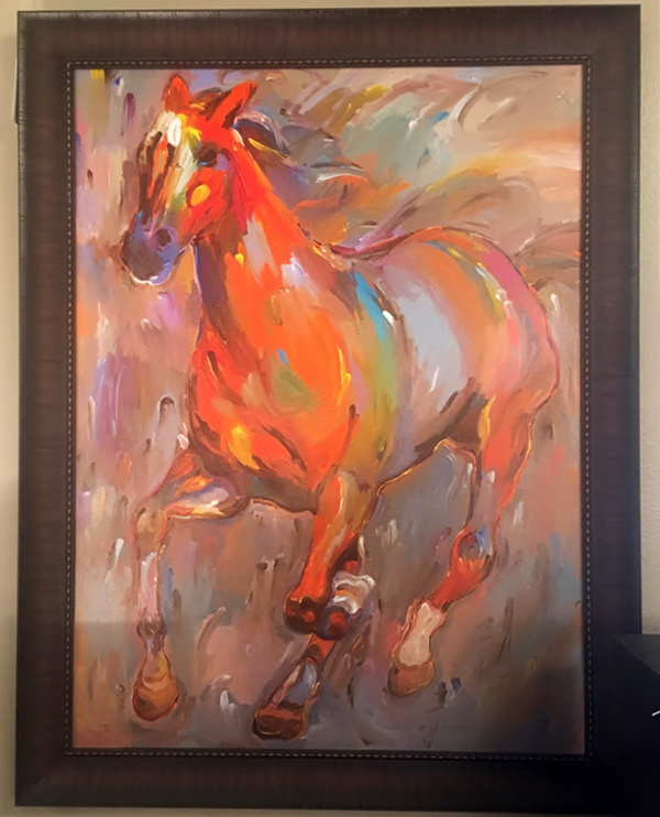 Galloping-Horse---Red-Orange-Painting