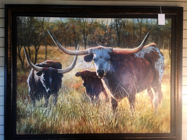 Texas-Long-Horn-Cow-Painting