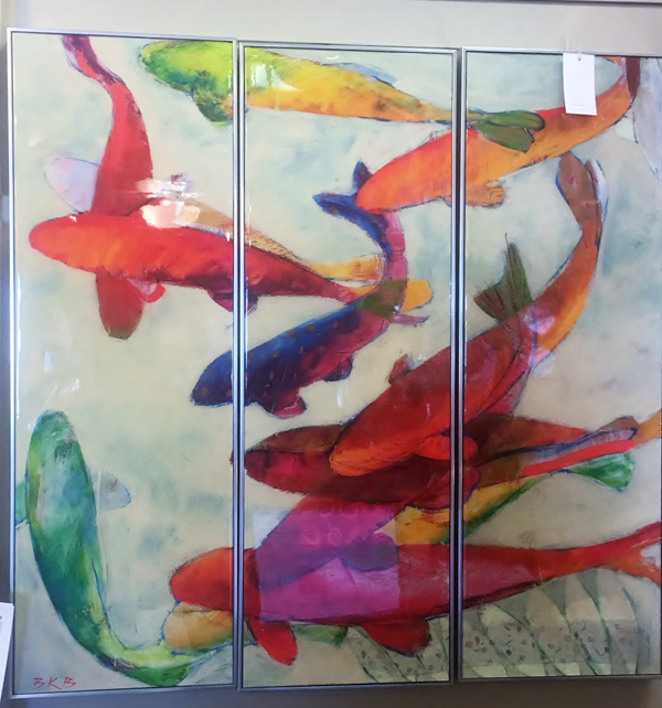 Multicolored-Fish-Triptych