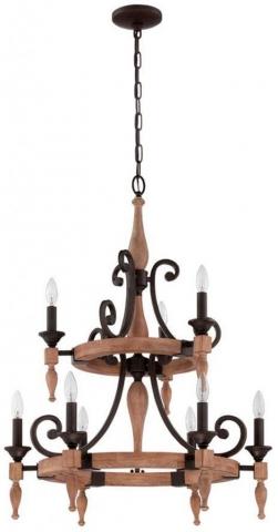 hill lighting design chandeliers glenwood 9 light wood