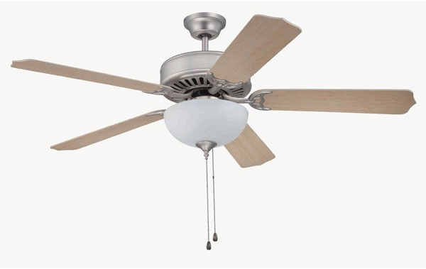 hall lighting design interior ceiling fans 52 brushed nickel