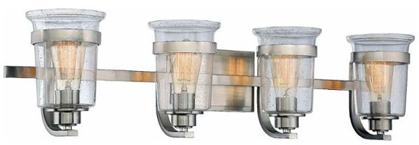 Hall Lighting & Design - Vanity Lighting - Goodwin, 3 light, Satin Nickel