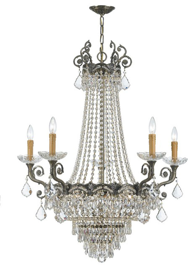 Hall Lighting & Design - Chandeliers - 5 Light, Chrystal