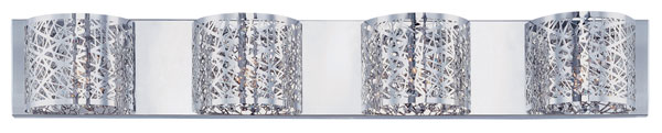 Hall Lighting & Design - Vanity Lights - Inca, 4 light, chrome, crystal
