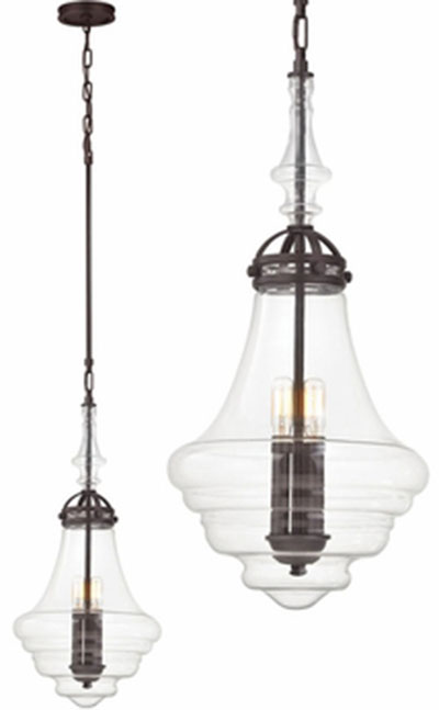 Hall Lighting & Design - Pendants - Gramercy, oil rubbed bronze finish, 1 light