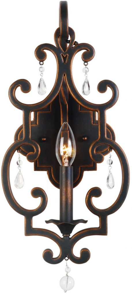 Hall Lighting & Design - Sconces - Montgomery 1 light, antique copper