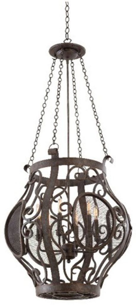 Hall LIghting & Design - Chandeliers - Isabel 6 light pendant, iron, industrial, hand forged