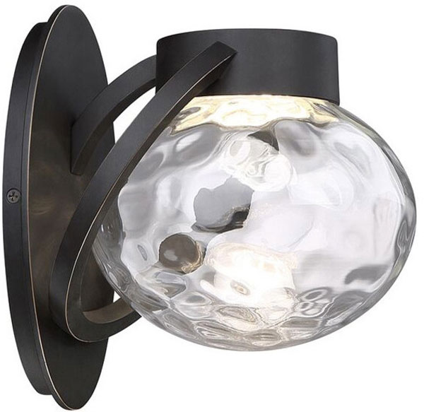 Hall Lighting & Design - Exterior Lighting - 3000K LED, hammered clear glass, 10W