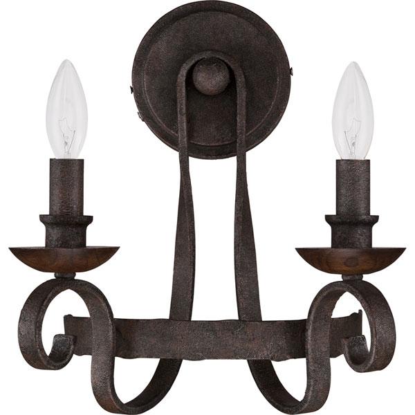 Hall Lighting & Design - Sconces - Nobel, 2 light, rustic black
