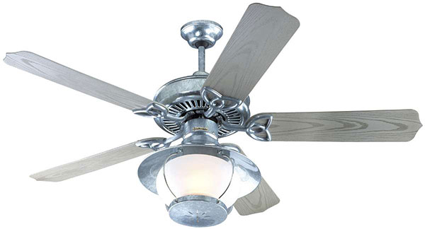 "Hall Lighting & Design - Exterior Fans - 52"" galvanized finish"