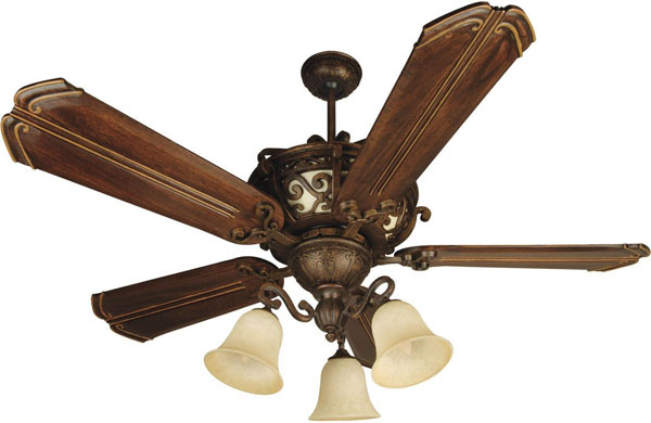 "Hall Lighting & Design - Interior Ceiling Fans - 52"" Peruvian Bronze, 5 blade"