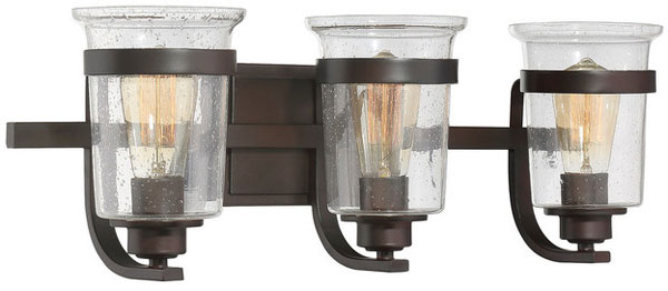 Hall LIghting & Design - Vanity Lights - Goodwin, 3 light, english bronze