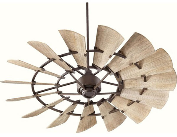 "Hall Lighting & Design - Exterior Fan - 60"", 72"" oil bronze"